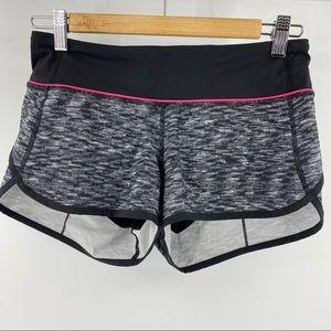 Lululemon speed shorts black and white